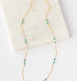 Delicate Turquoise 14kt Gold Plated, Sterling Necklace