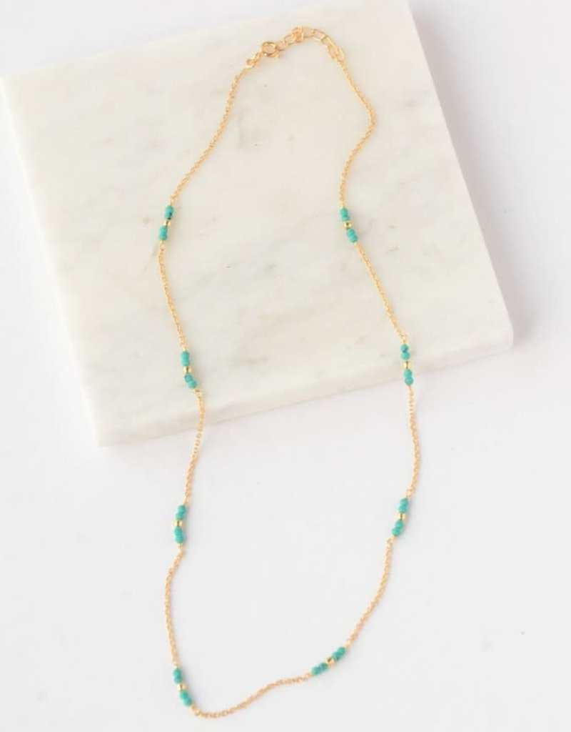 Delicate Turquoise 14kt Gold Plated, SterlingNecklace