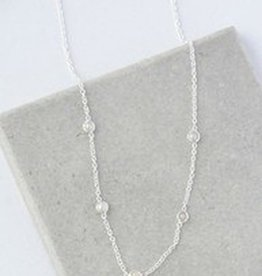 India, Delicate Pearl Necklace Sterling