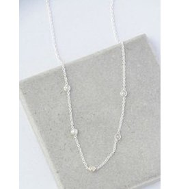 Sterling Silver Delicate Pearl Necklace, India