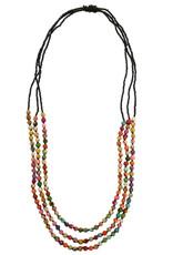 Kantha Triple Strand Necklace