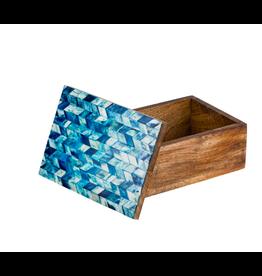 Artemis Blue Bone Treasure Box, India
