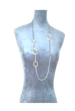 Sterling Plated Oval Necklace, Turkey