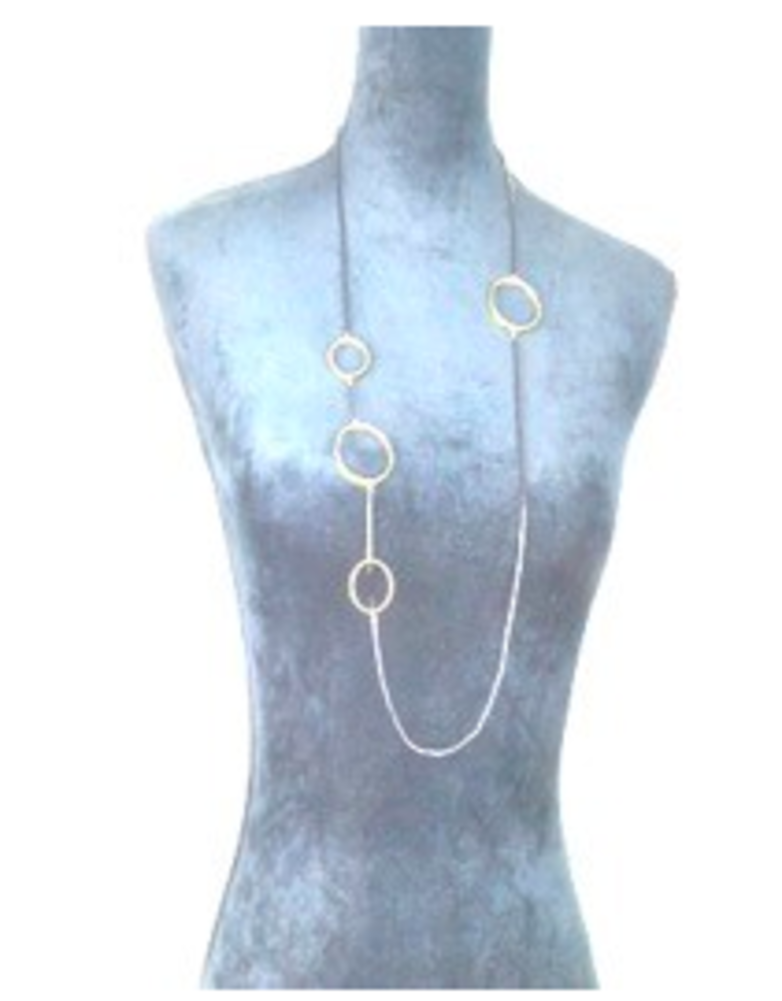Sterling Plated Oval Necklace