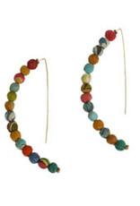 Kantha Linear Arc Earrings