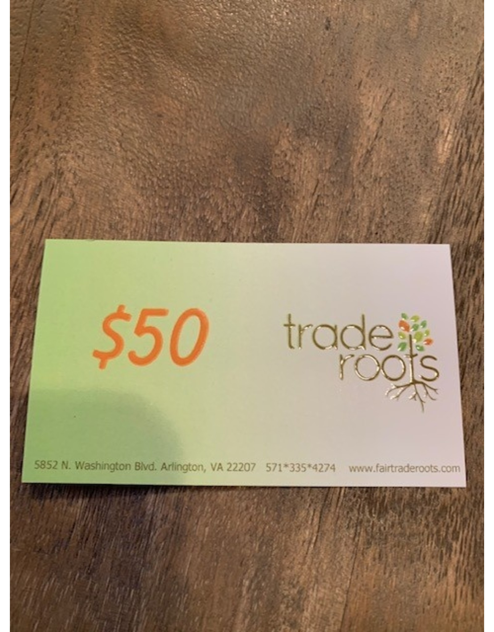50$ Gift Certificate