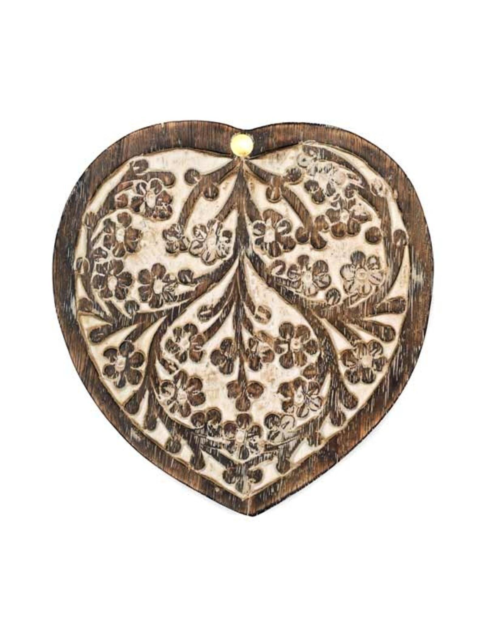 Antique Finish Pivot Box Heart
