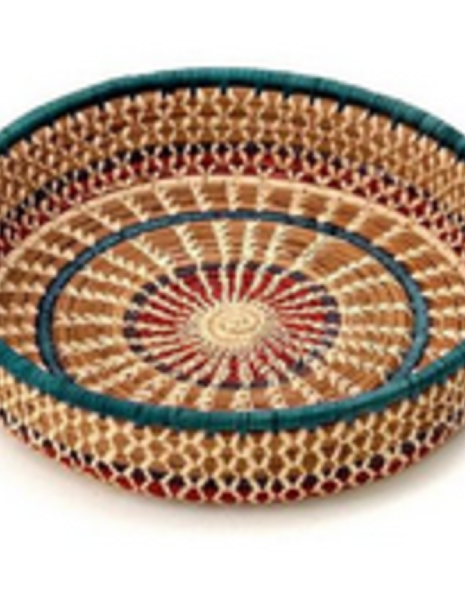 """Round Pinwheel Pine Basket, 9"""""""
