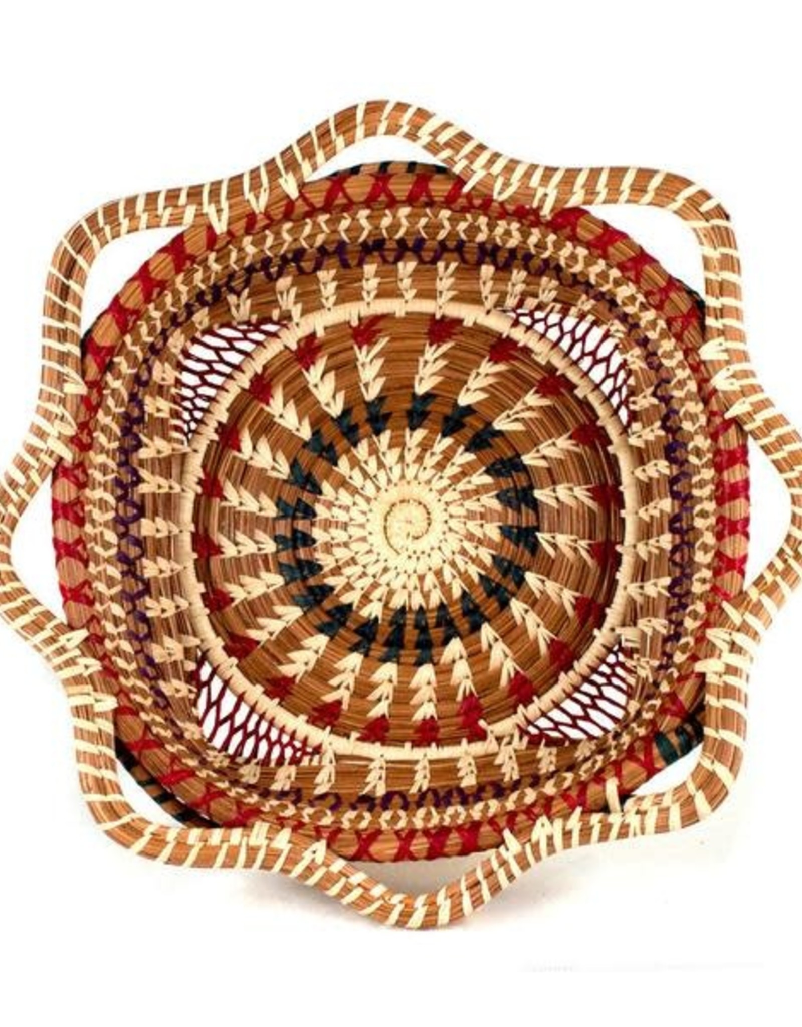 Guatemala, Butterfly Basket, Square w/ Scalloped Edges .   40