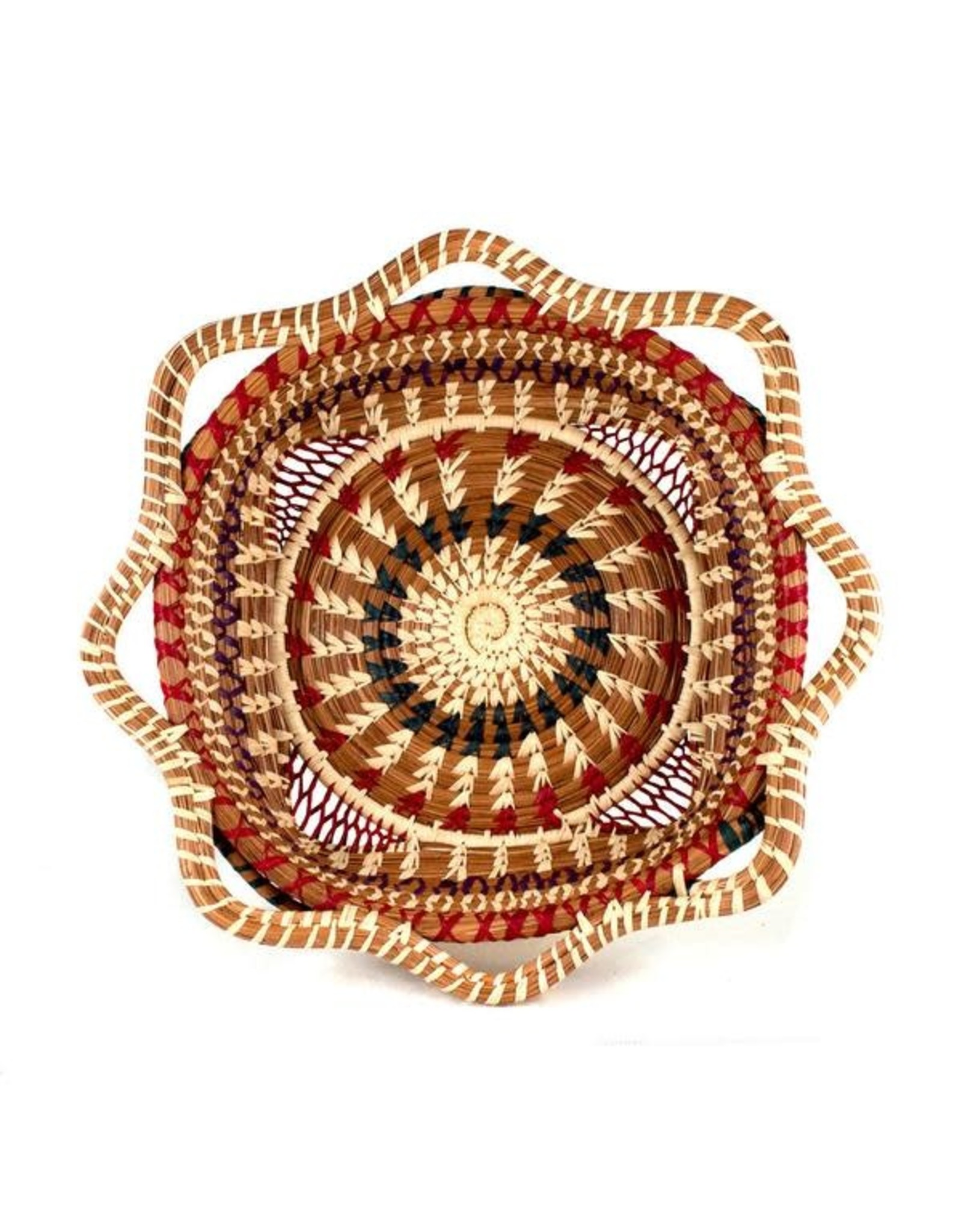 Butterfly Basket, Square w/ Scalloped Edges, Guatemala