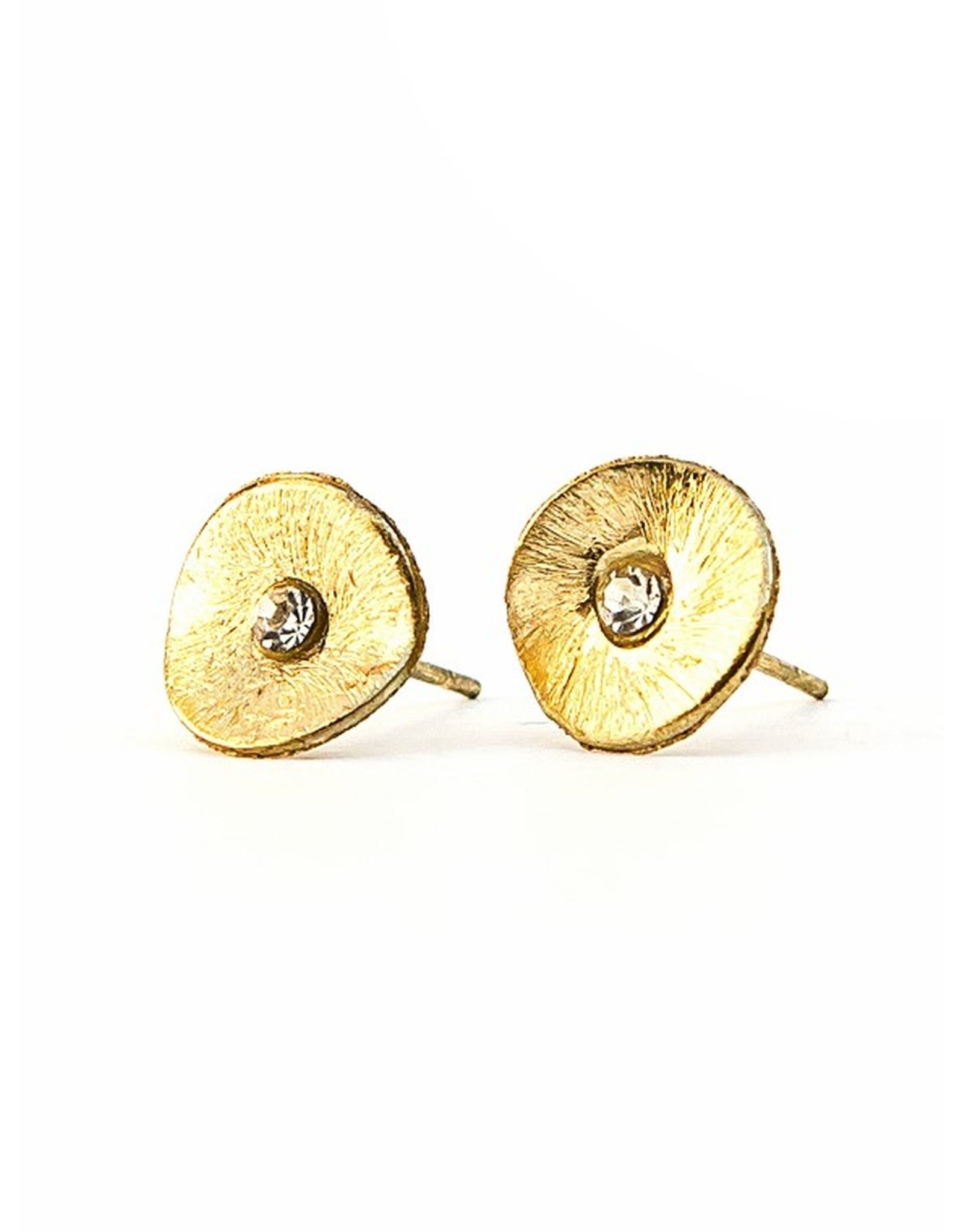 Poppy Studs, Gold Color