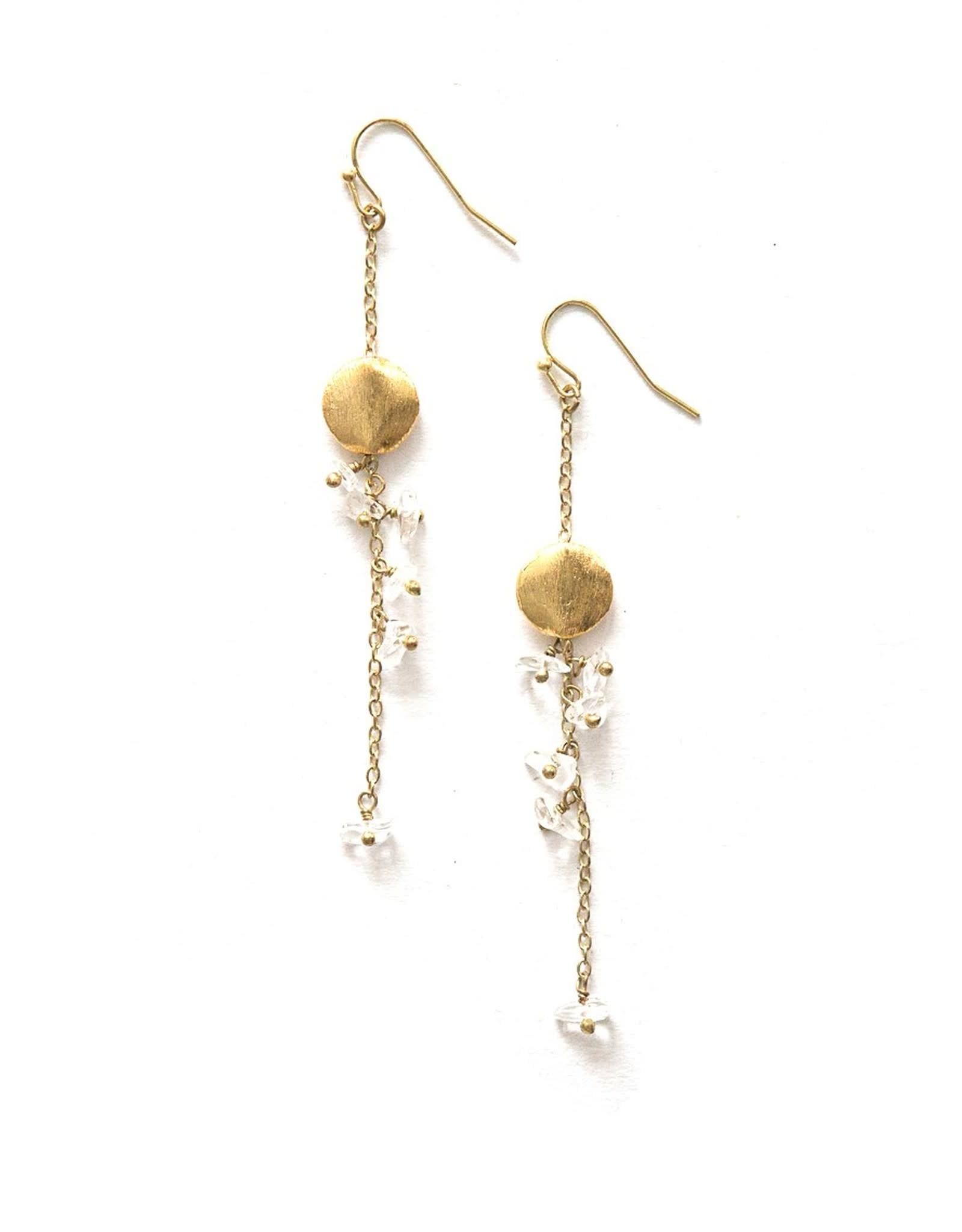 Delicate Dangle Stone Earrings, India