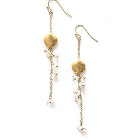 India, Delicate Dangle Stone Earrings