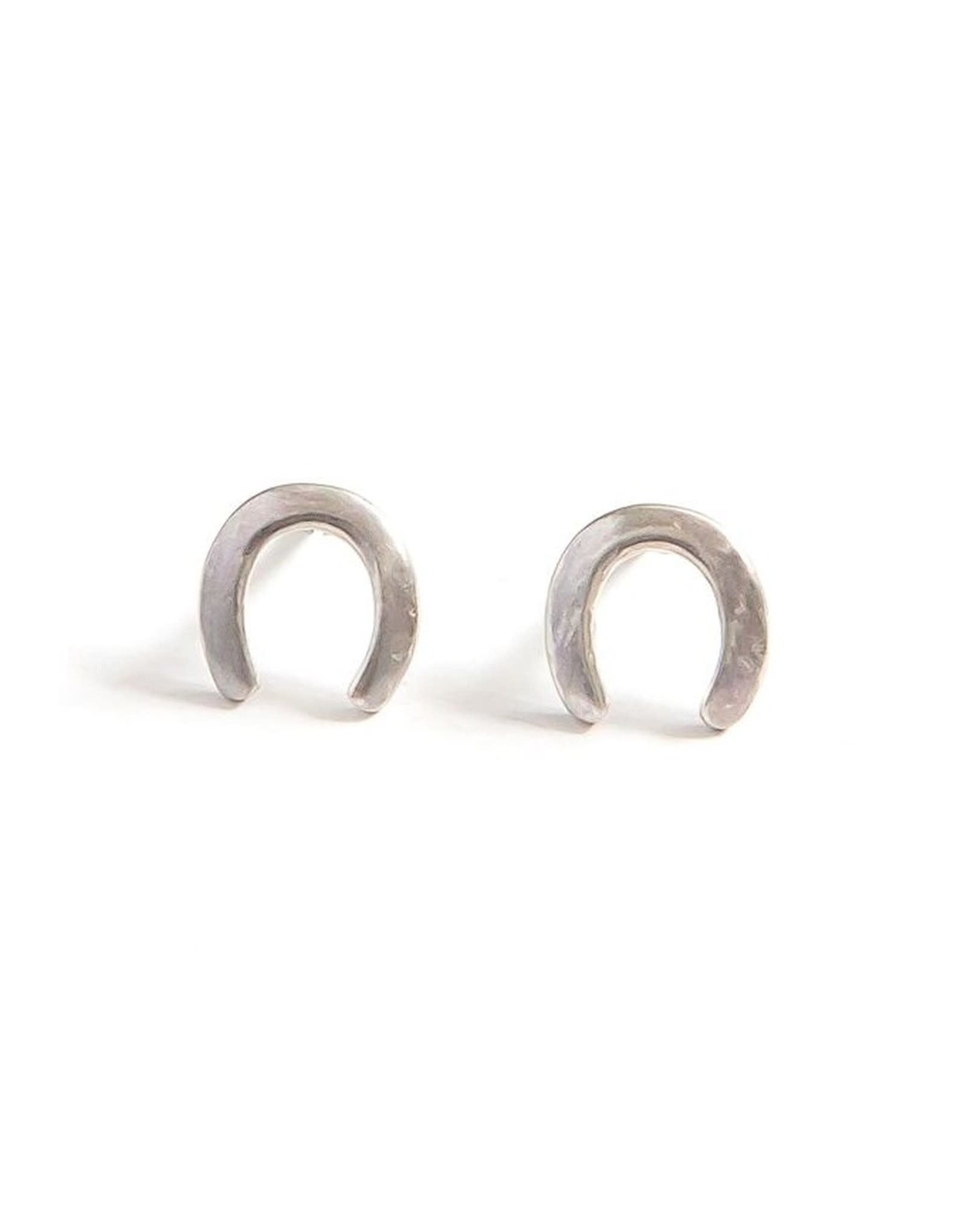Waning Crescent Sterling Stud Earrings