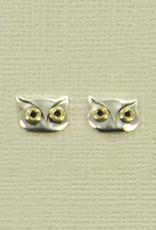 Sterling Silver Owl Post Earrings