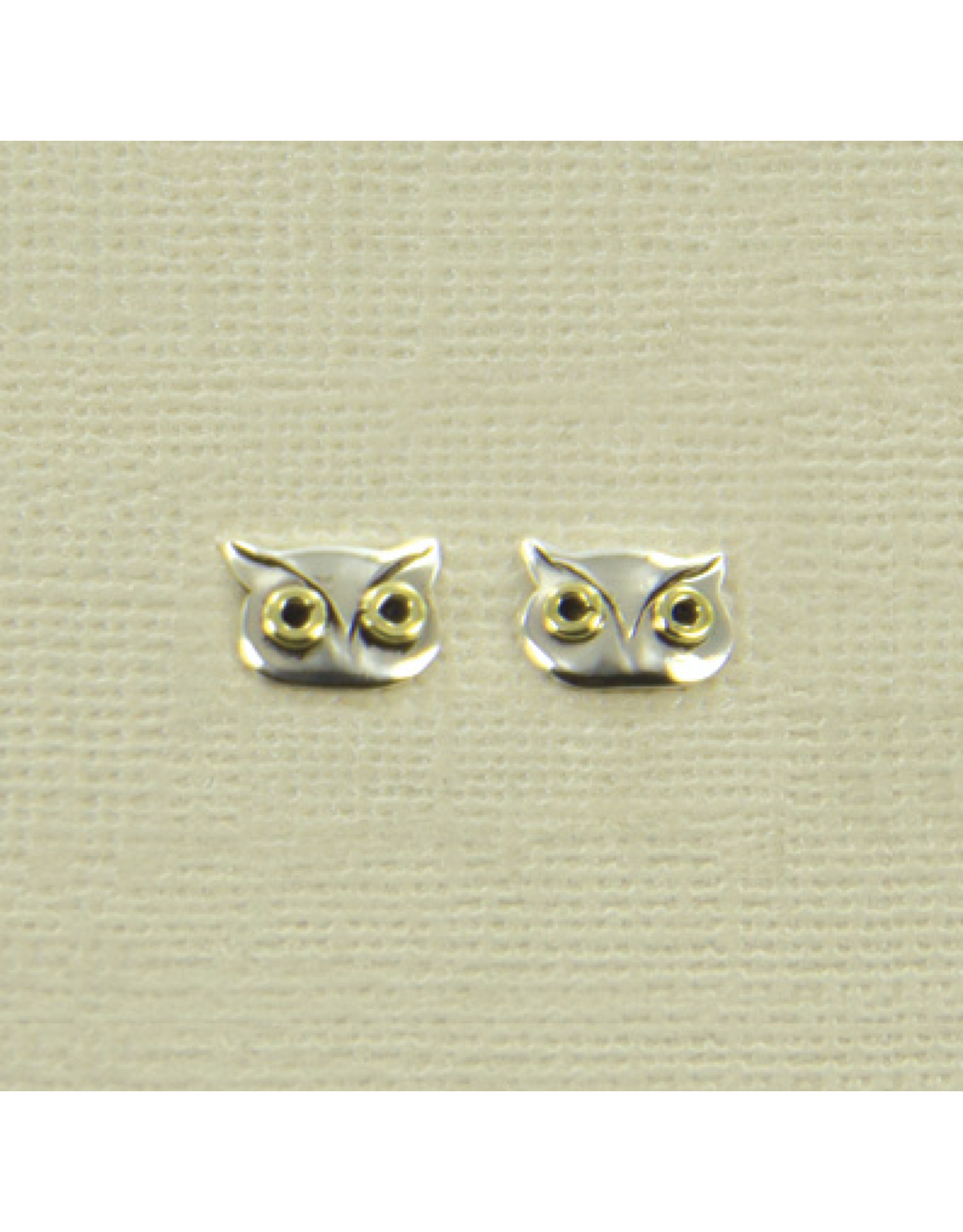 Sterling Silver Owl Post Earrings