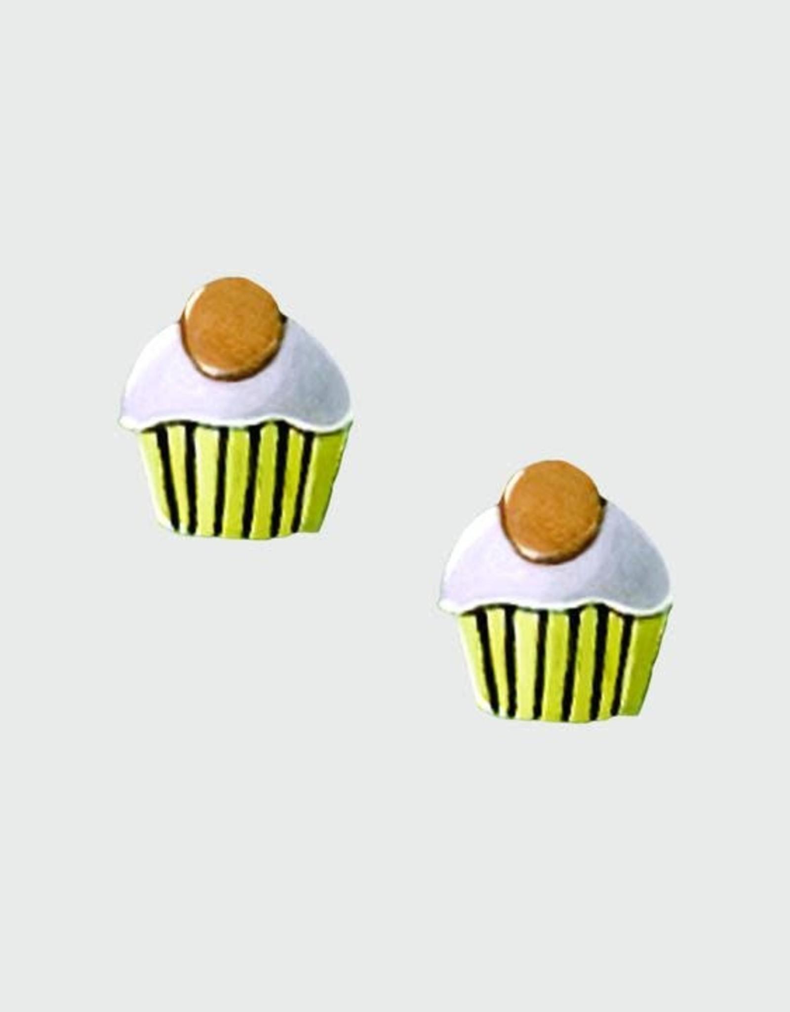Sterling Silver Cupcake Post Earrings