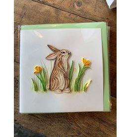 Rabbit Quilling Card, Vietnam