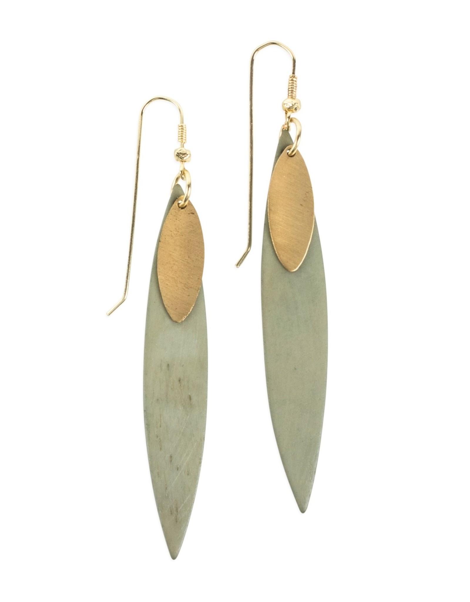 India, Delicate Edge Earrings