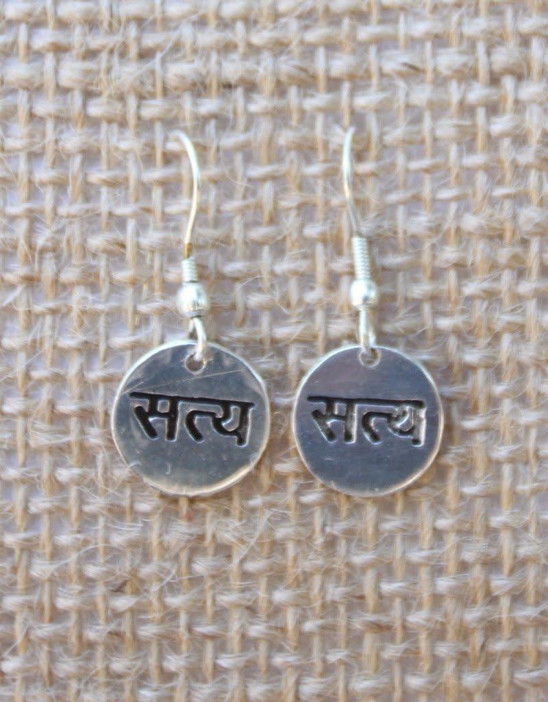 India, Satya True Script Earrings