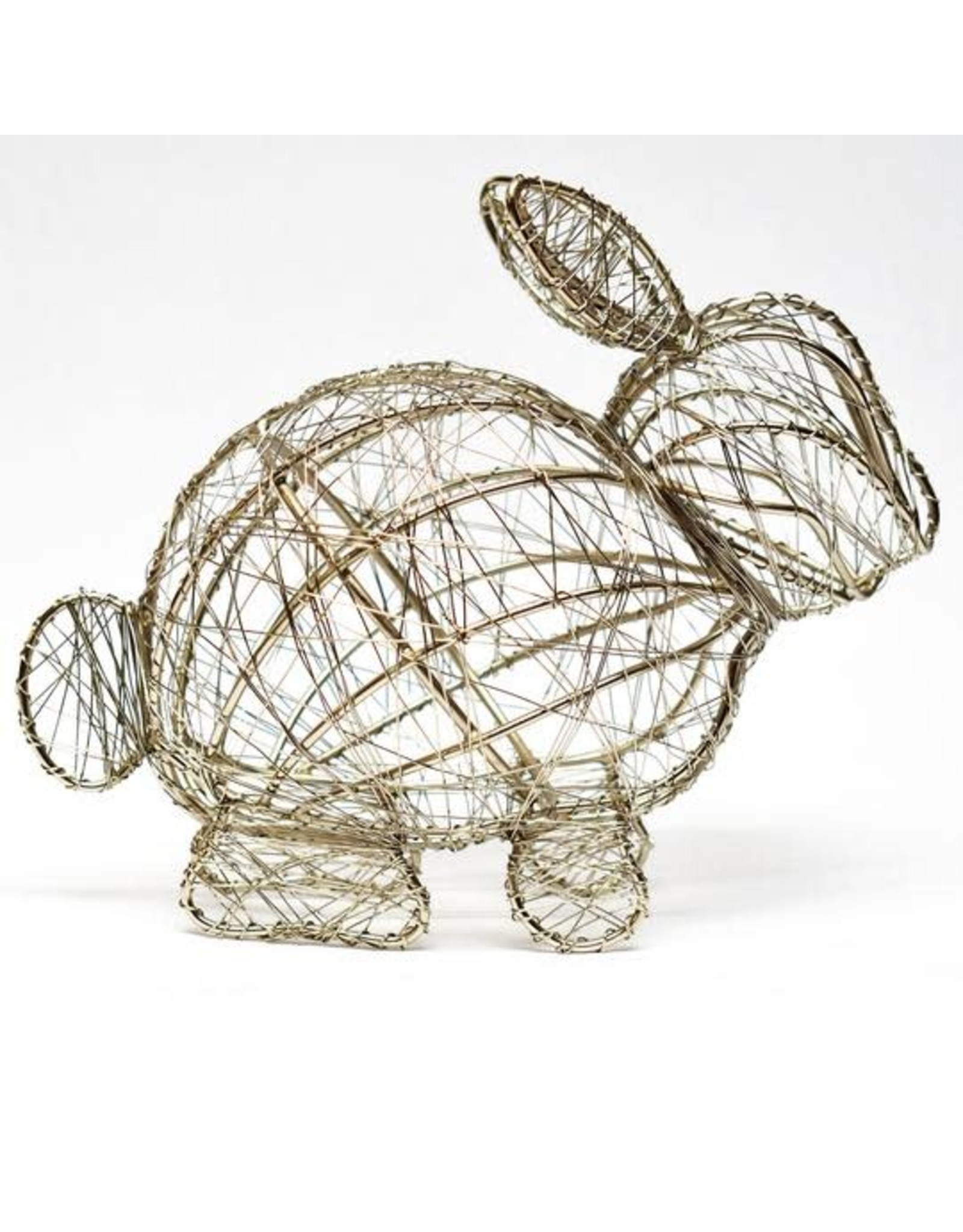 India, Large Wrapped Wire Bunny