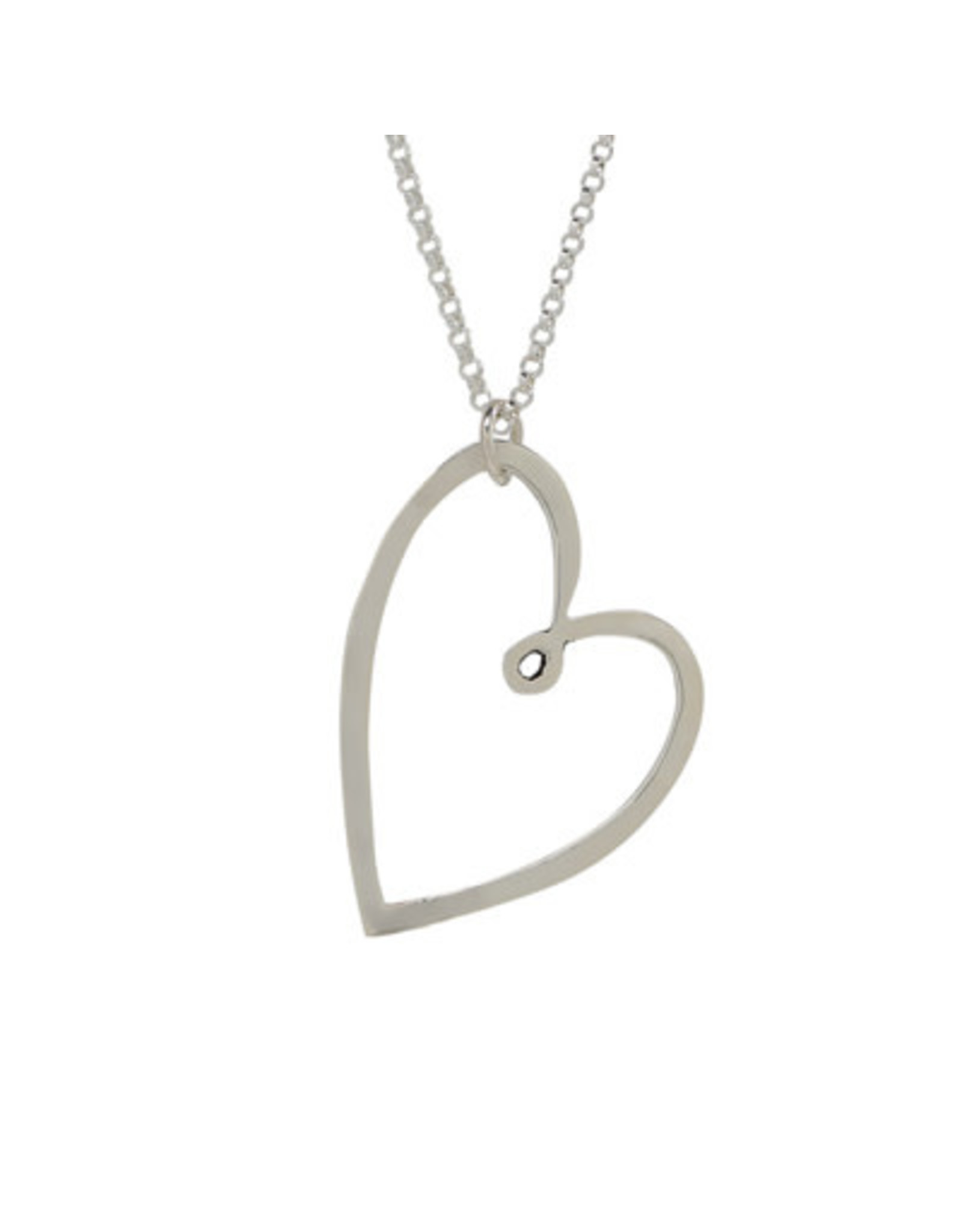 Sterling Heart Pendant Necklace