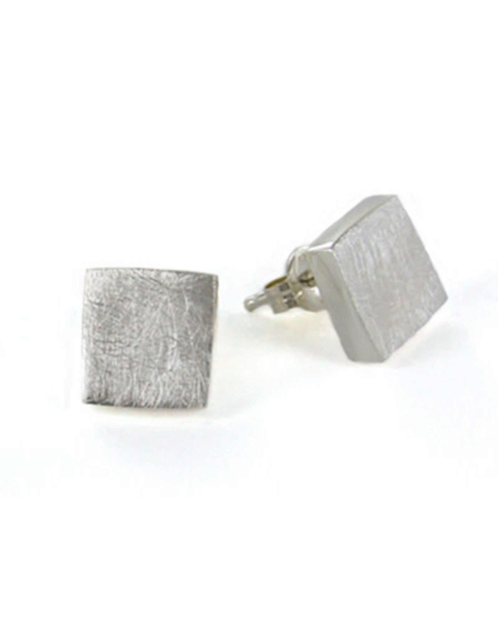 SS, Brushed Silver Chunky Post Earrings