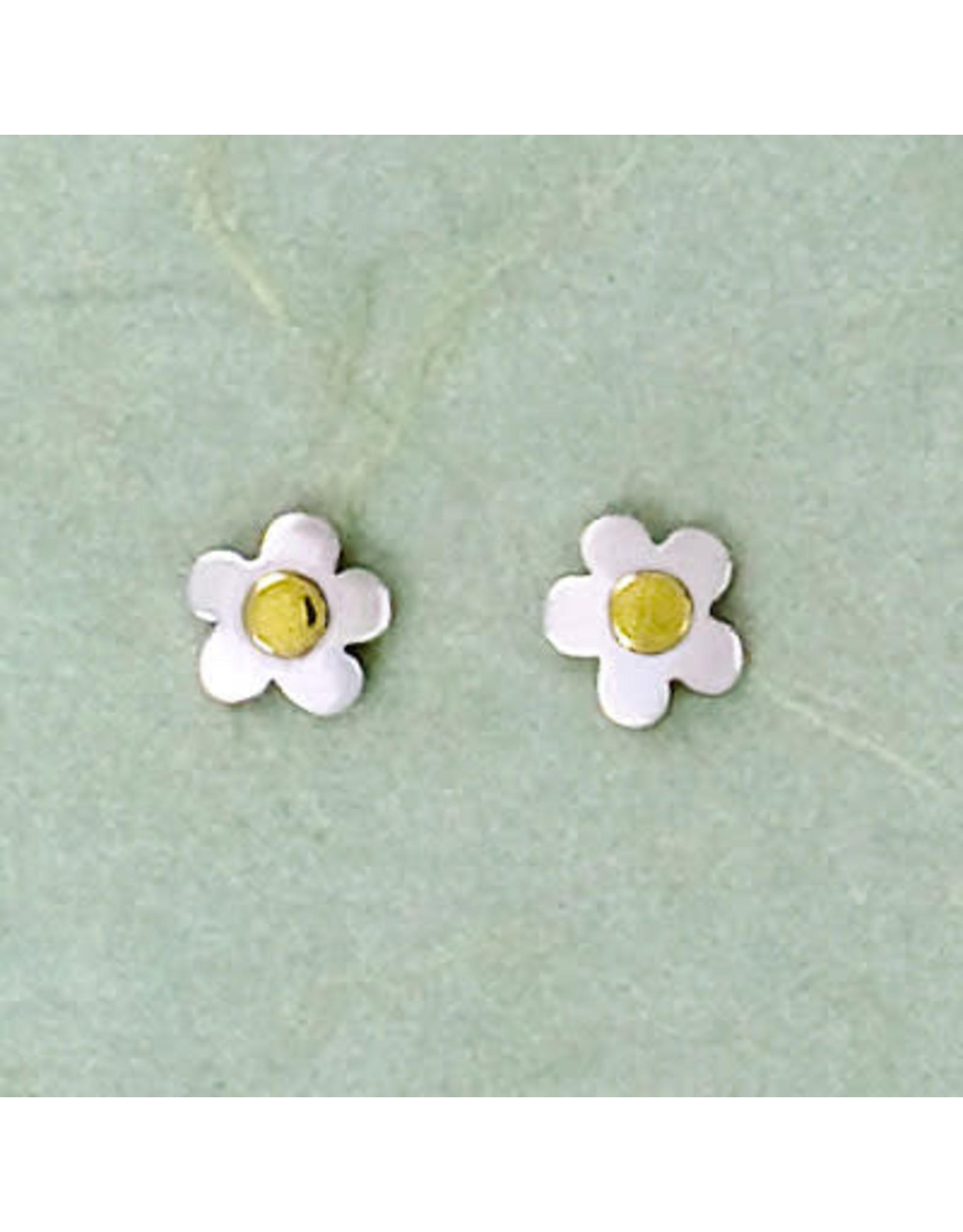 Sterling Silver Flower Post Earrings, Mexico