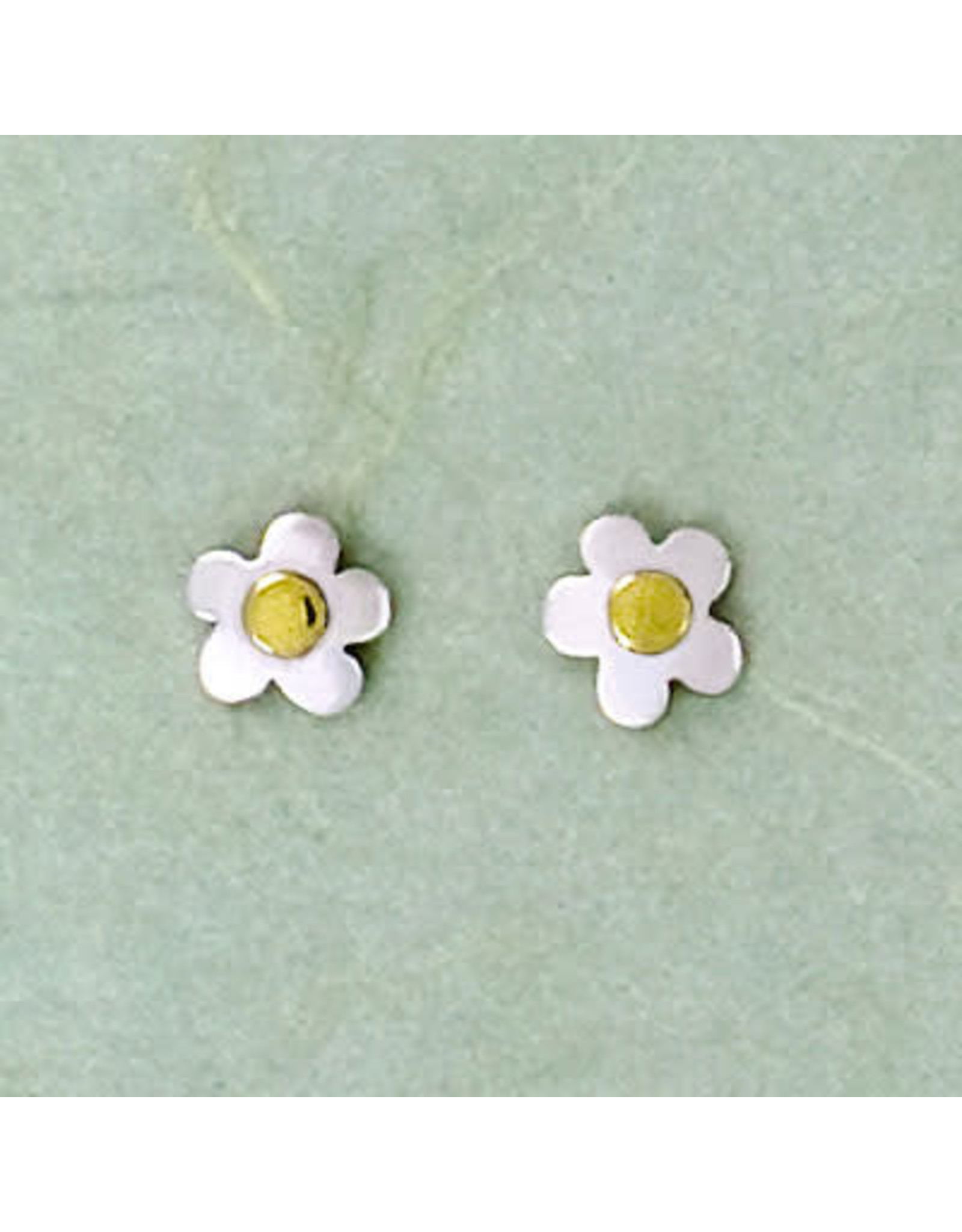 Sterling Silver Flower Post Earrings