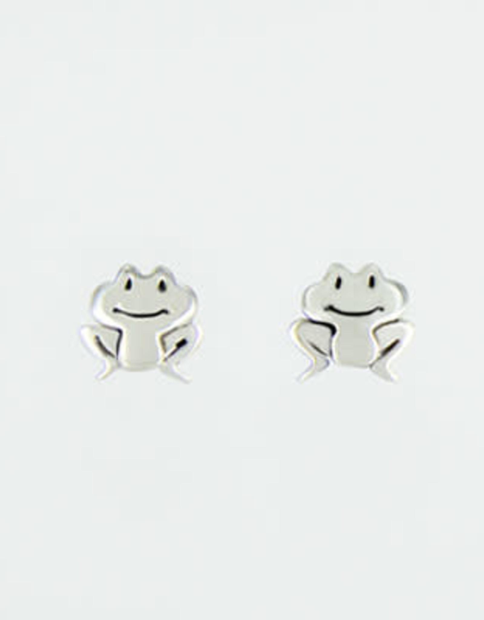 Sterling Silver Happy Frog Post Earrings