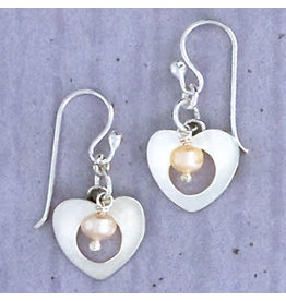Sterling Heart w/FWP Wire Earrings