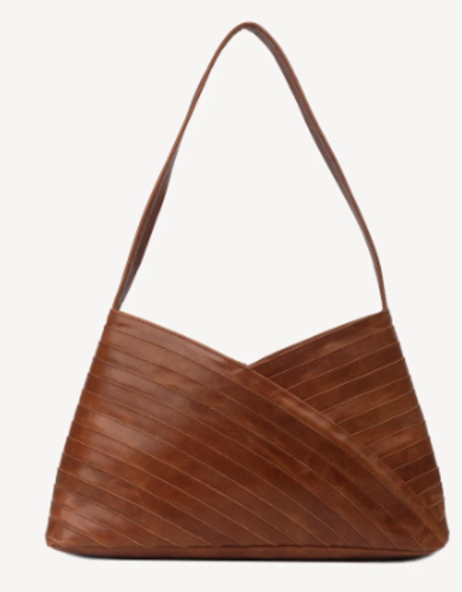 India, Criss Cross Shoulder Bag, Brown