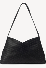 India, Criss Cross Leather Bag, Black