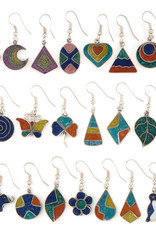 Peru, Alpaca Silver Vivid Resin Earrings