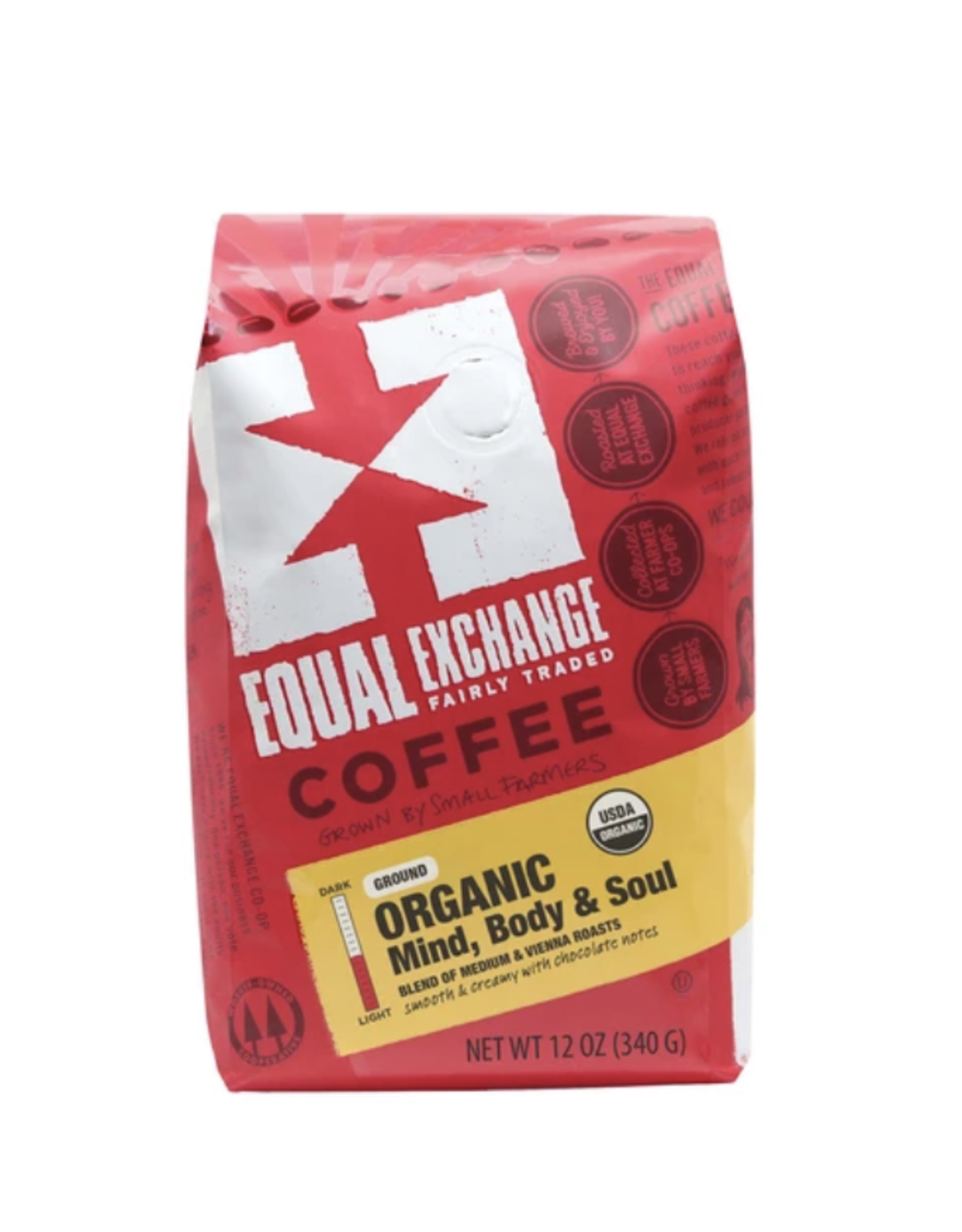 Mind,  Body & Soul Organic Coffee, 12 oz, Whole Bean