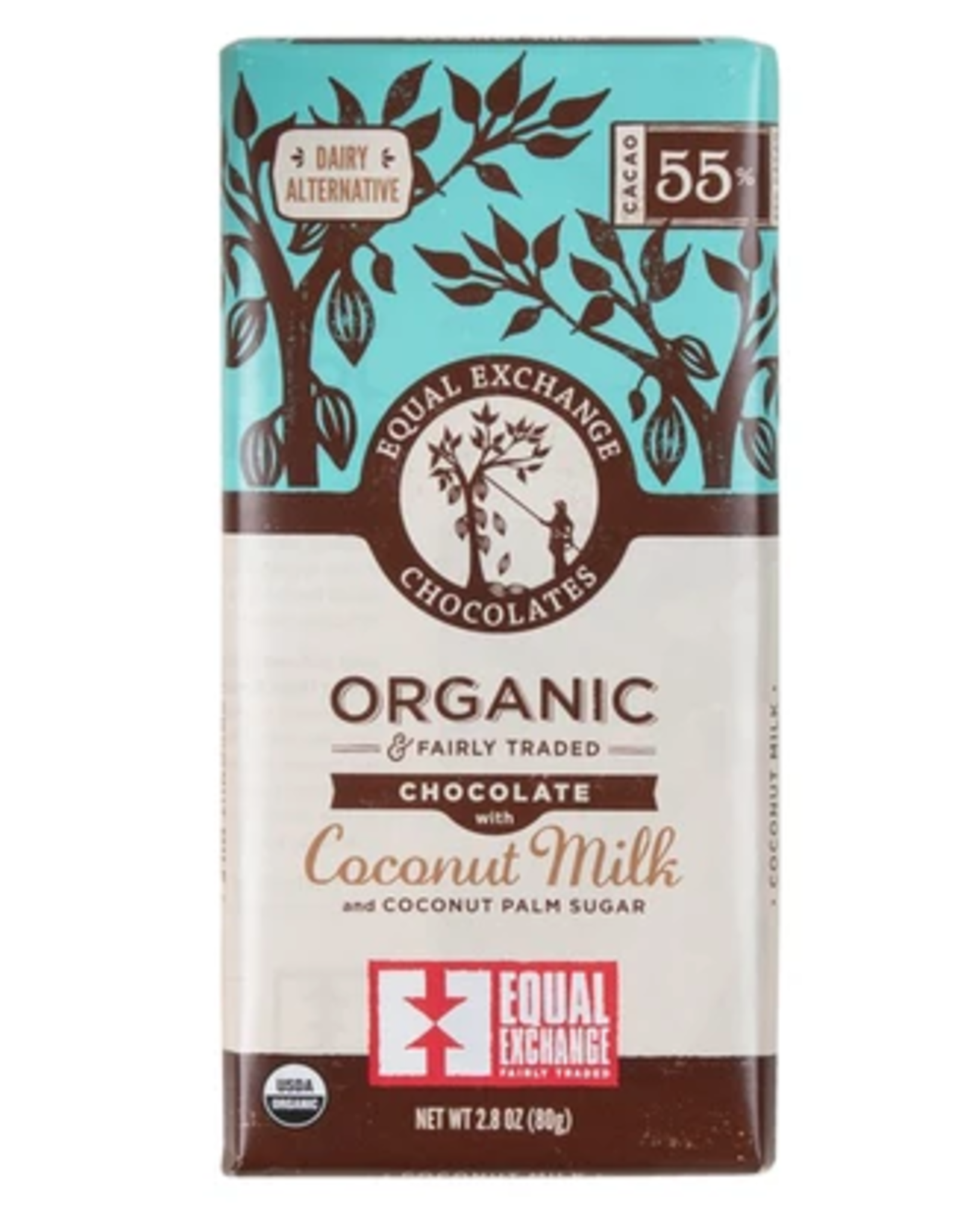 Organic Chocolate with Coconut Milk 55%