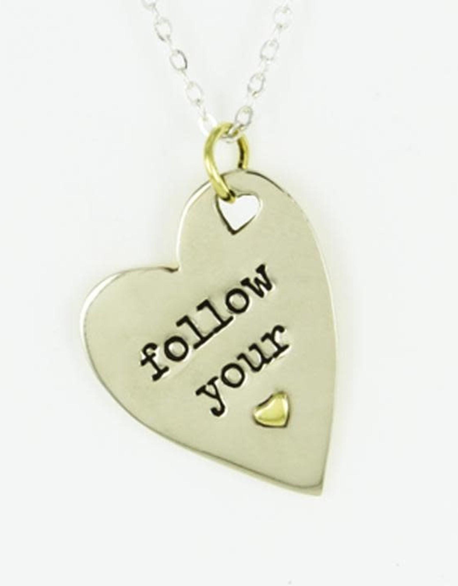 Pendant Necklace Follow Your Heart