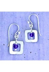 Square with Amethyst Wire, Sterling