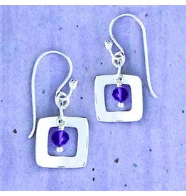 Square with Amethyst Wire, Sterling, Mexico