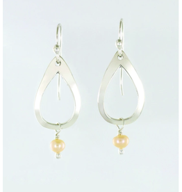 Cutout Teardrop with Peach FW Pearl, Mexico