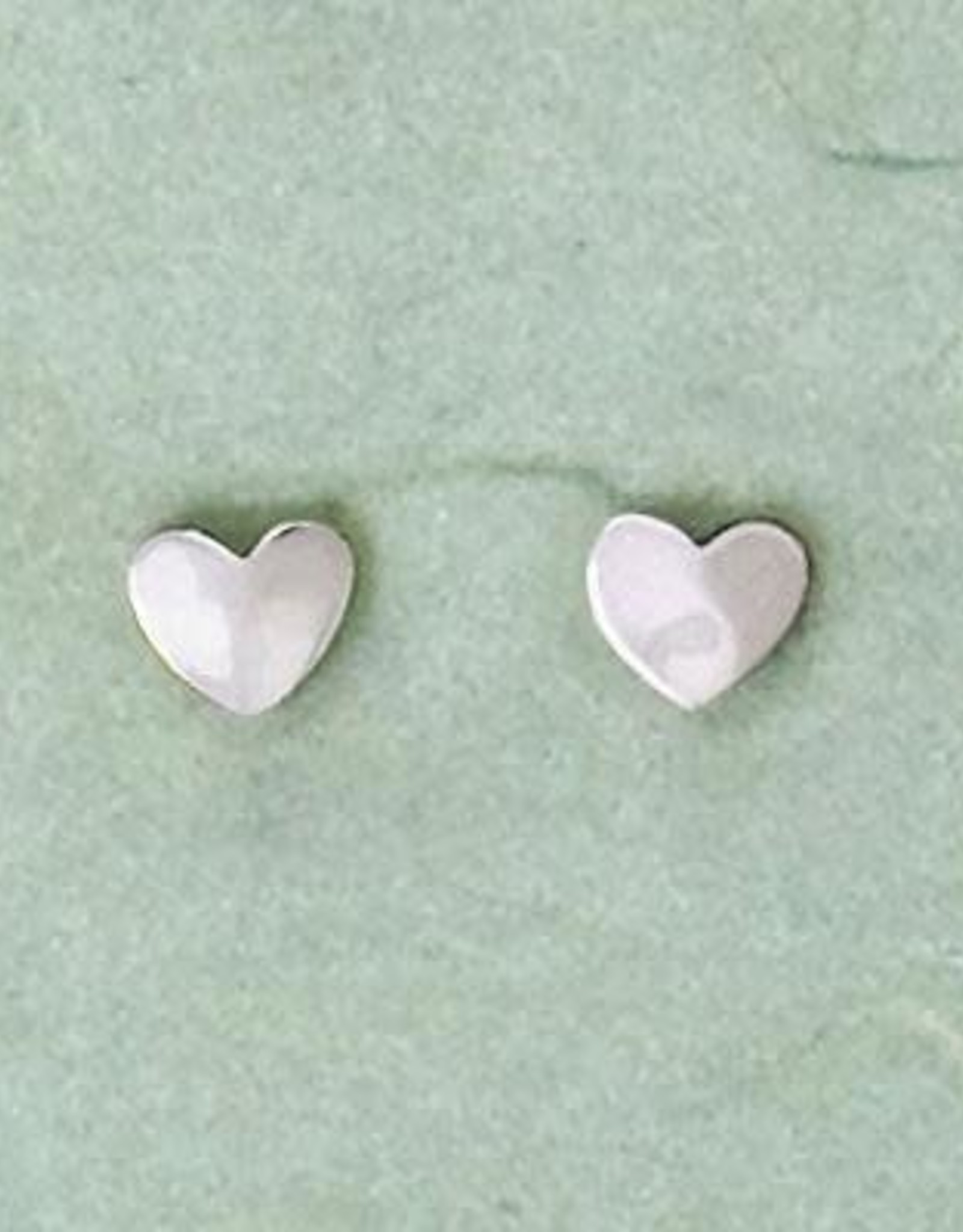 Mexico, Sterling Silver Hammered Heart Post