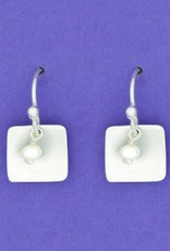 Sterling Square w/FWP Earrings