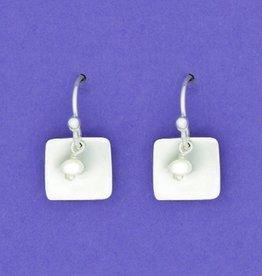 Sterling Square w/FWP Earrings
