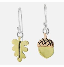 Leafy Charms Acorn Earrings