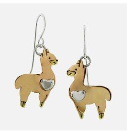 Llama Earrings, Mexico