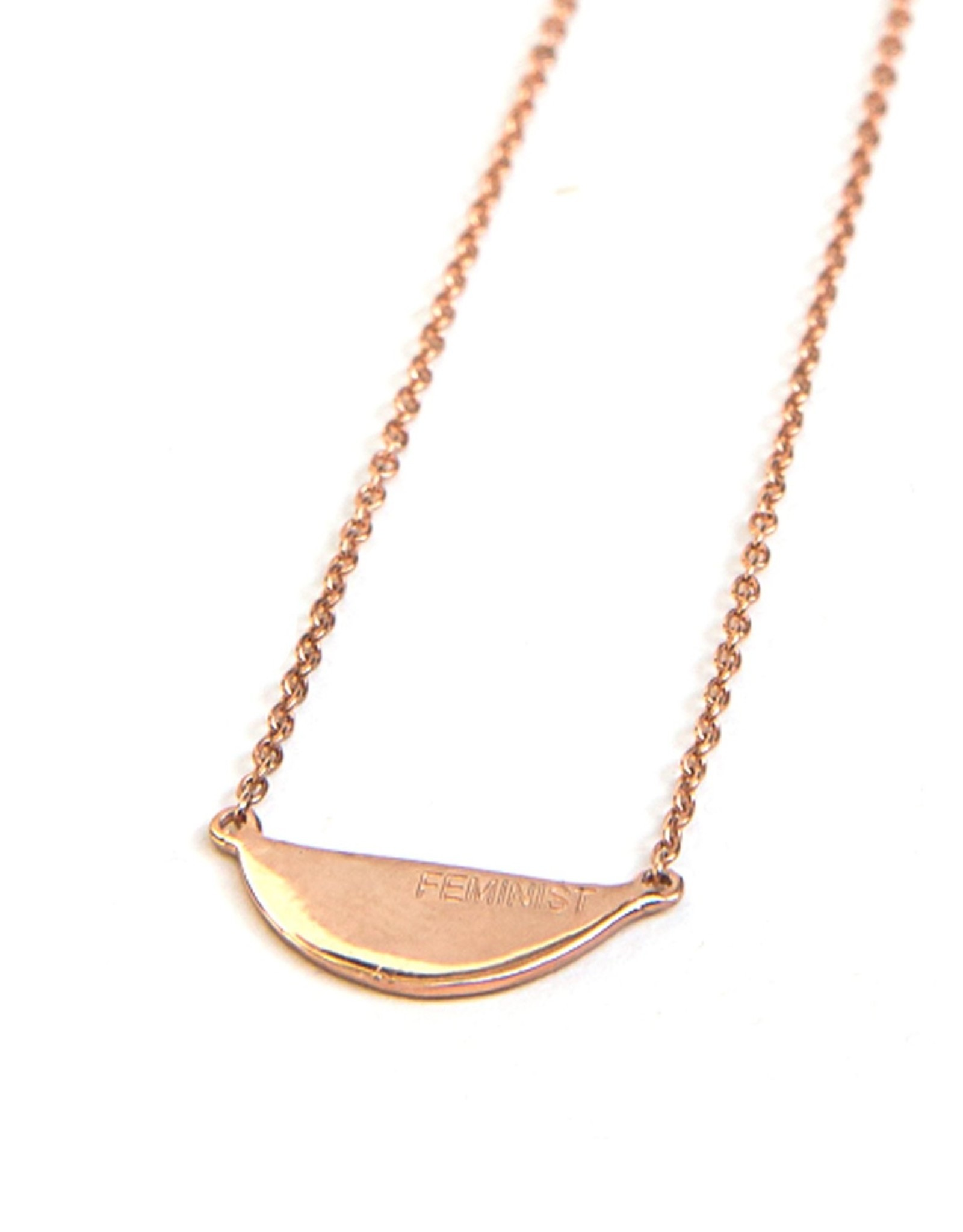 Feminist Rose Gold  Necklace, India