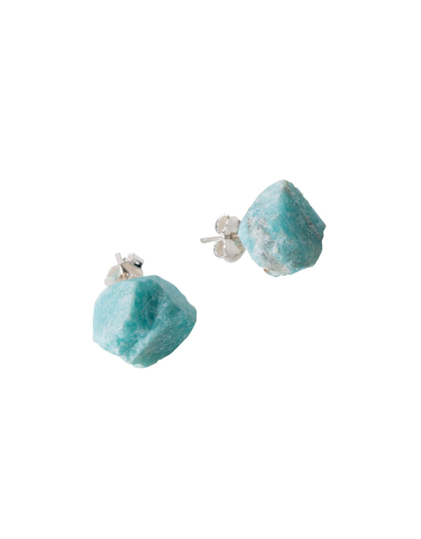 Amazonita Stone  Sterling Post Earrings