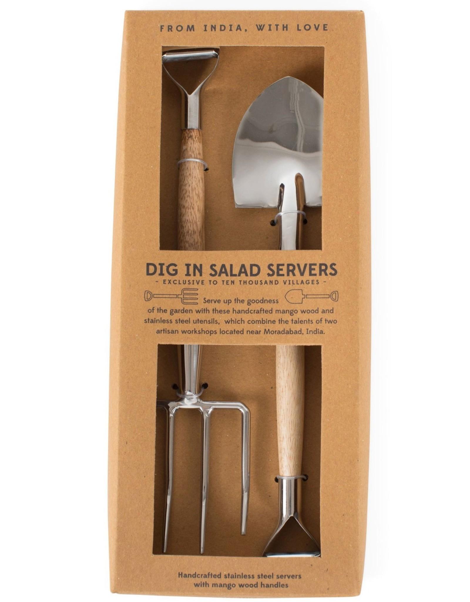 India, Salad Server Fork and Shovel