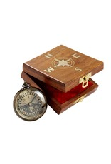 True North Compass in Wood Box, India