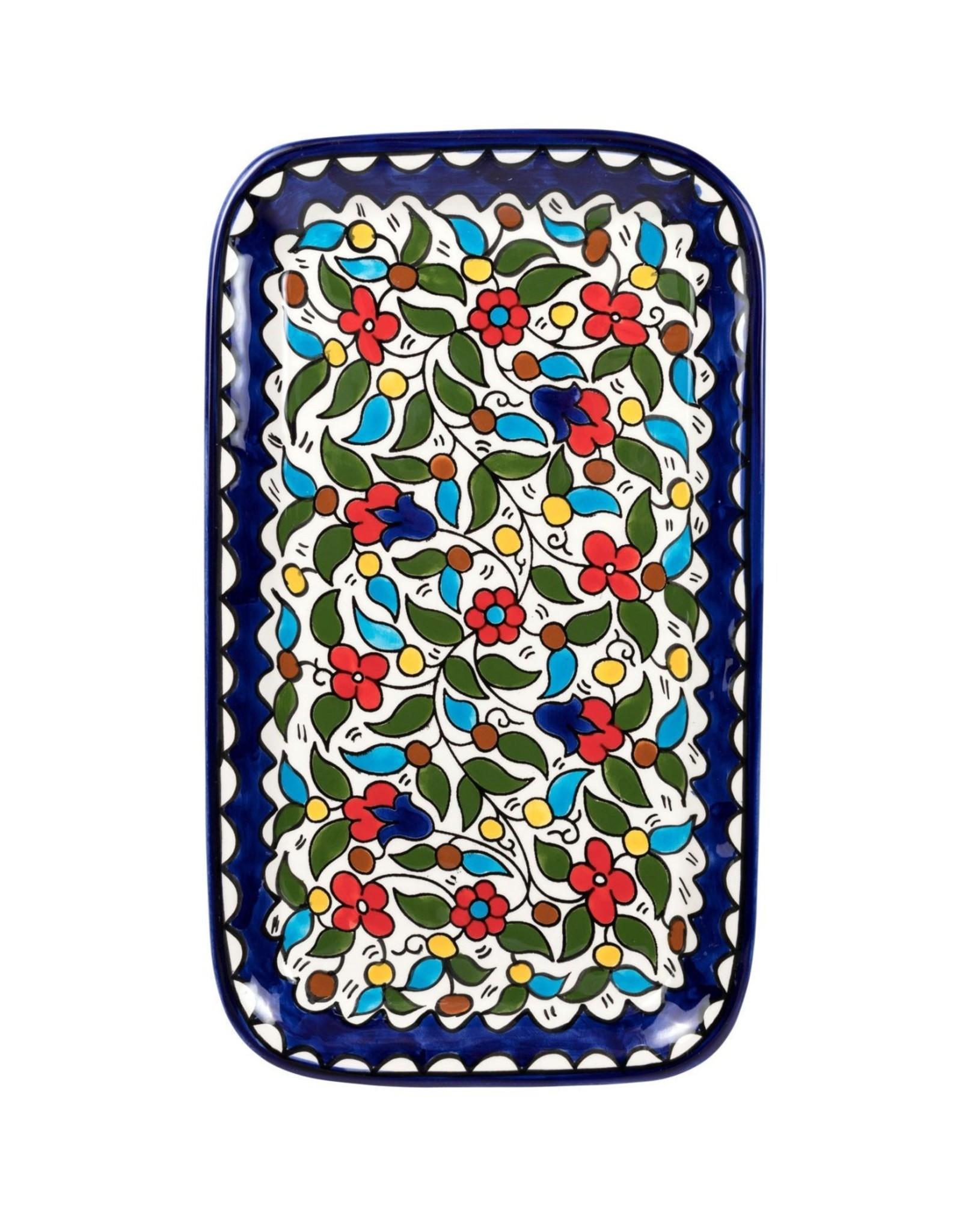 Ceramic  Daisies Serving Platter